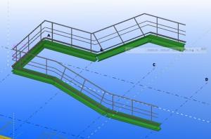 tekla handrails