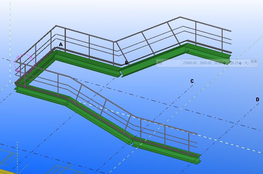 tekla handrail draw tool example