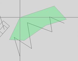 Выделяем вершины объектов объекты с помощью полигона в автокад