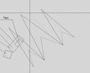 И растягиваем выделенные вершины объектов в автокаде