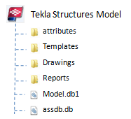 Tekla model file structure