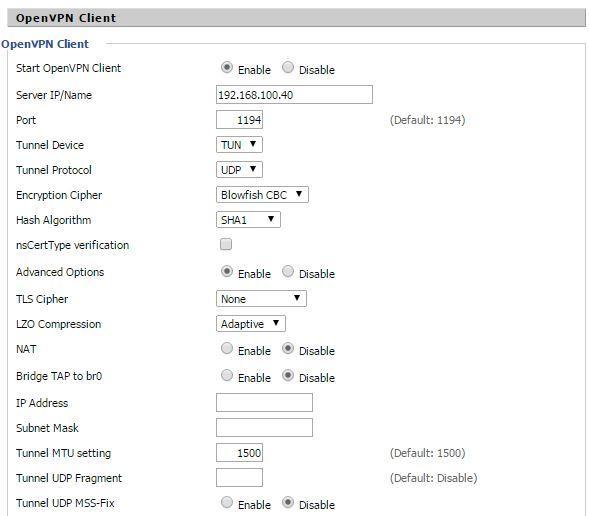 настройка OpenVPN Сlient на роутере Asus N10U с помощью прошивки DD-WRT