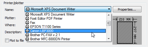 autocad-print-select-printer