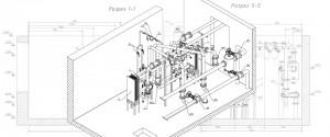 Модель теплового пункта для Автоматической спецификации автокад