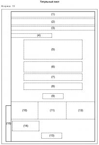 Титульный лист форма 13 по ГОСТ Р 21.1101-2013
