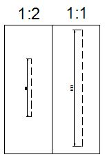 сравнение вида штриховки в разных масштабах на листе