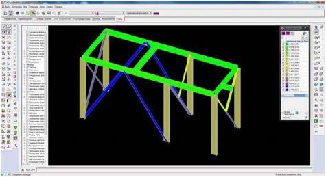 Импортированная модель в SCAD Office v.21