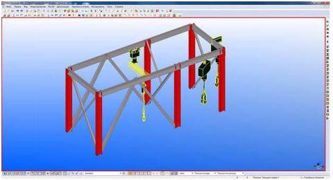 Модель в TEKLA Structures с импортированным оборудованием в формате *.dgn.