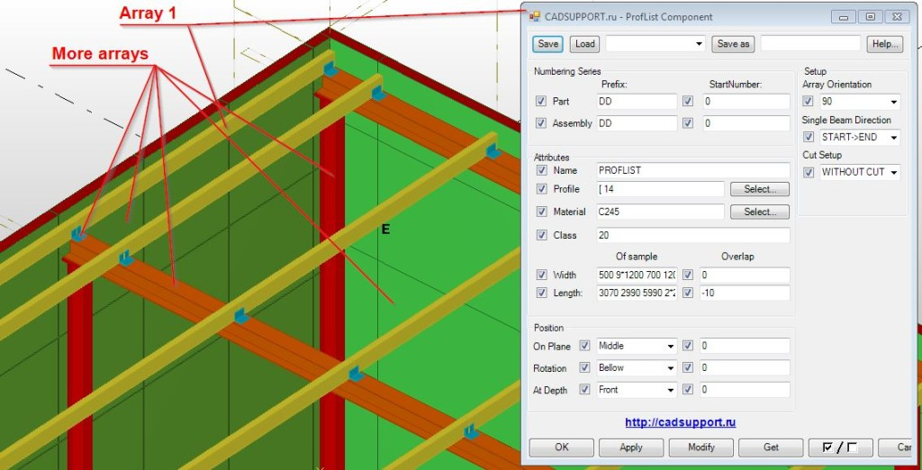 Tekla Array example