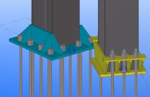 Tekla Structures жестко защемленные базы колонн в Текле, по расчету из Комметы Скад