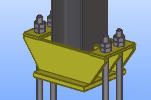 база колонны с траверсой модуль для Теклы