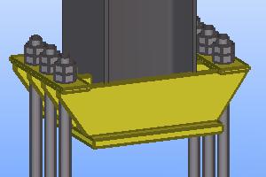база колонны с траверсой рассчитанная в модуле комета