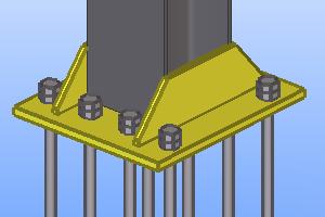 базы металлических колонн без траверсы