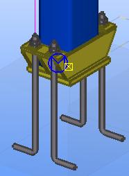 траверса с прямоугольным профилем - жесткая база колонны