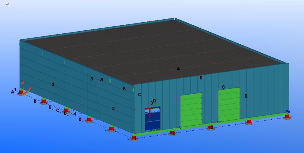 модель из двух компонентов в Tekla Structures