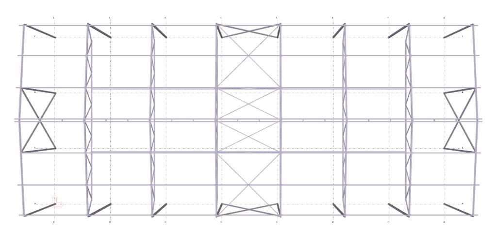 Металлический каркас 3d - вид сверху