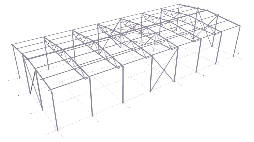 Металлический каркас по технологии BIM проектирования